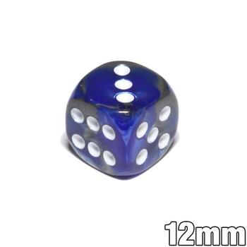 12mm Gemini Blue and Steel d6