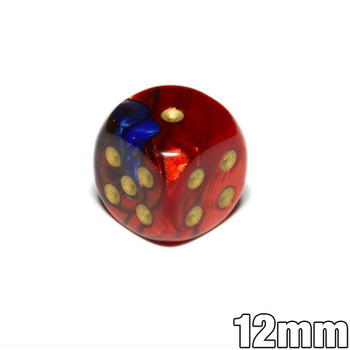 12mm Gemini Blue and Red d6