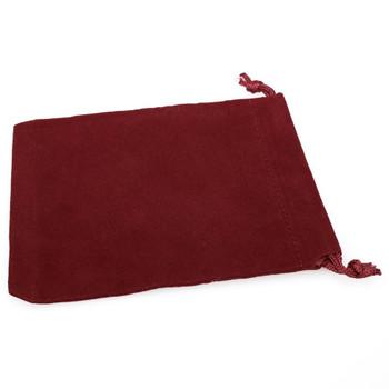 Small burgundy dice bag