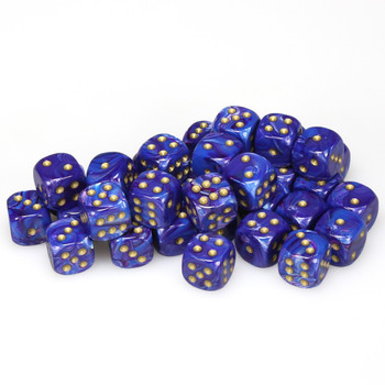 12mm Lustrous Purple dice - Set of 36