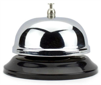 Medium Chrome Bell with Black Base