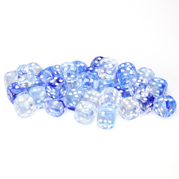 12mm Nebula Dark Blue dice - Set of 36