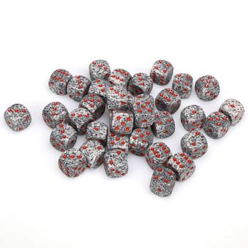 12mm Speckled Granite d6s - Set of 36