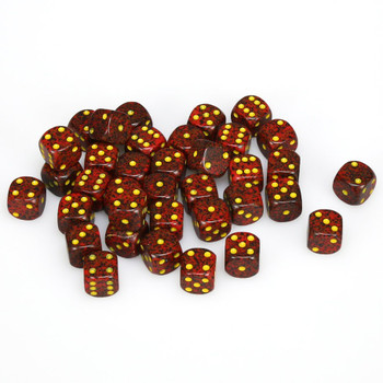 12mm Speckled Mercury d6s - Set of 36