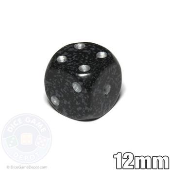 12mm Speckled Ninja d6