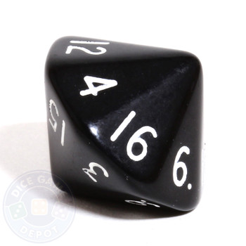 d16 - 16-sided dice - Black