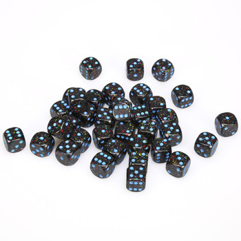 12mm Speckled Blue Stars d6s - Set of 36