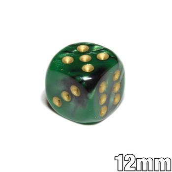 Green and black Gemini 12mm d6