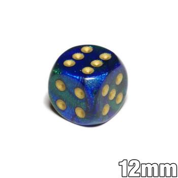 12mm Gemini Blue and Green d6