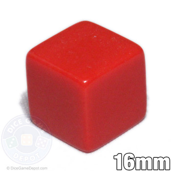 Blank 6-sided red dice