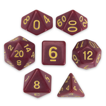 Crimson Queen dice set