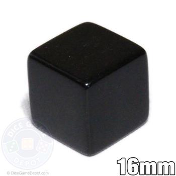 6-sided blank black dice