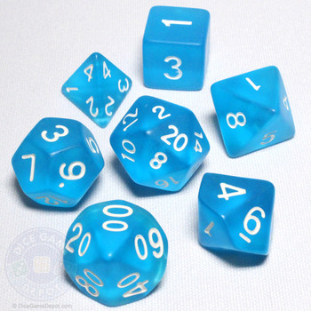 Sea Glass DnD dice set