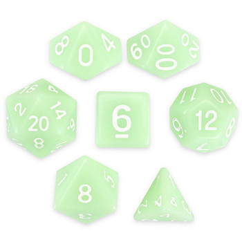 Ghost Jade dice set