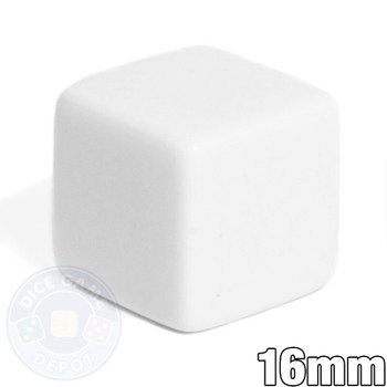 Blank dice - 16mm - White