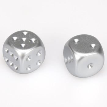 Aluminum dice - Pair d6