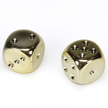 Gold dice - Pair d6