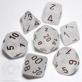 DnD dice set - Frosted Clear