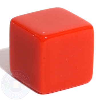19mm blank dice - Red