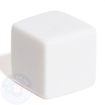 19mm Blank Dice - White