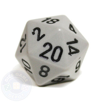 20-sided dice - Gray