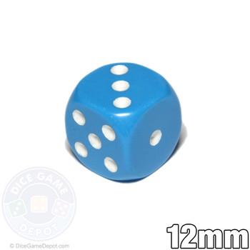 12mm Light Blue Opaque Dice