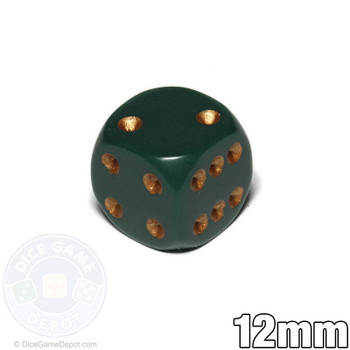 Opaque Round-Corner Dice - Dusty Green 12mm d6