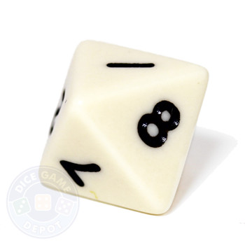 Ivory 8-sided dice