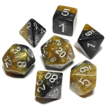 Halfsies dice set - D&D dice - DaVinci