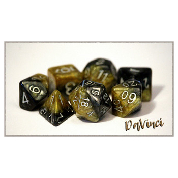 7-piece Halfsies dice set - D&D dice - DaVinci