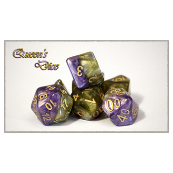 Halfsies Dice Set - Queens Dice