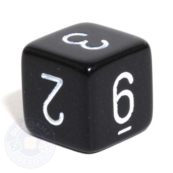 Black 6-sided numeral dice