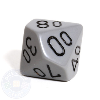 d10 percentile tens dice - Gray