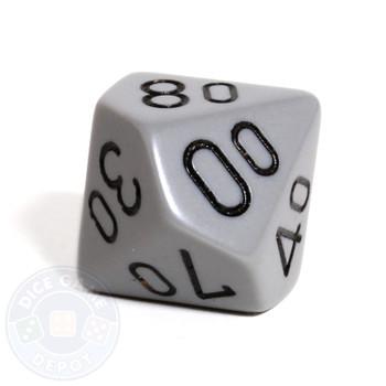 d10 percentile tens dice - Gray