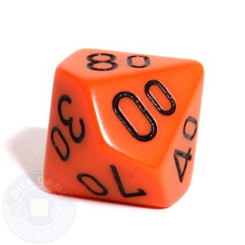 d10 percentile tens dice - Orange