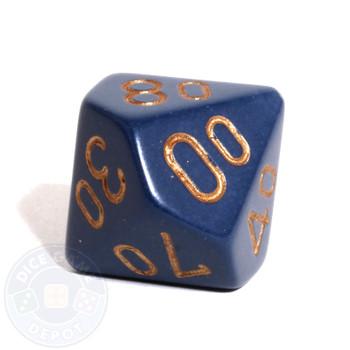 d10 percentile tens dice - Dusty Blue