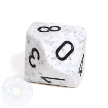 d10 dice - Speckled Arctic Camo