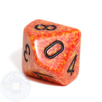 d10 dice - Speckled Fire