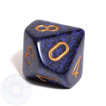 d10 dice - Speckled Golden Cobalt