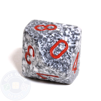 d10 dice - Speckled Granite