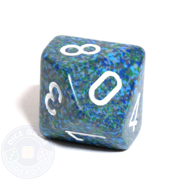 d10 dice - Speckled Sea