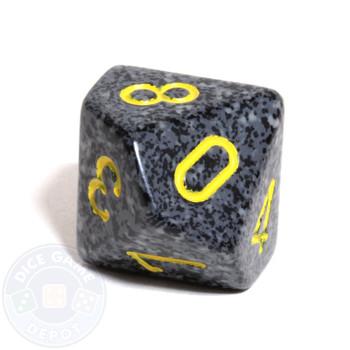 d10 dice - Speckled Urban Camo