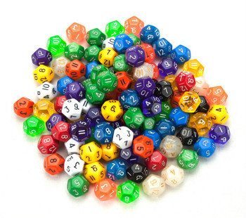 Pack of 100 12-sided dice