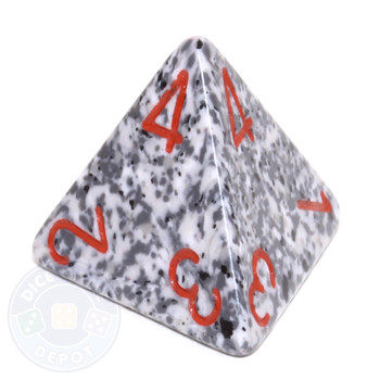 d4 - Speckled Granite 4-sided Dice