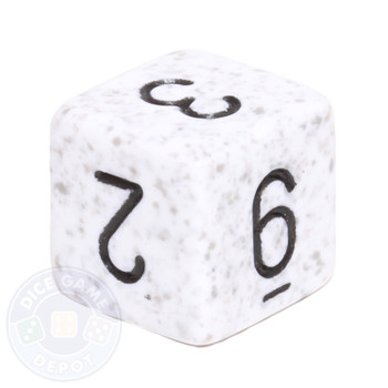 d6 - Speckled Arctic Camo dice
