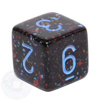 d6 - Speckled Blue Stars dice