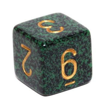 d6 - Speckled Golden Recon dice