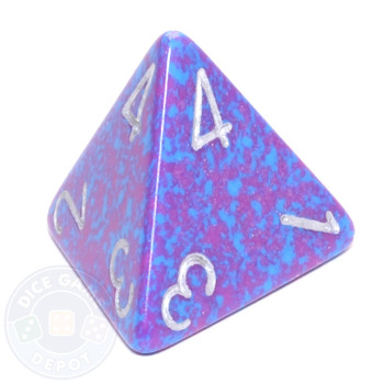d4 - Speckled Silver Tetra dice