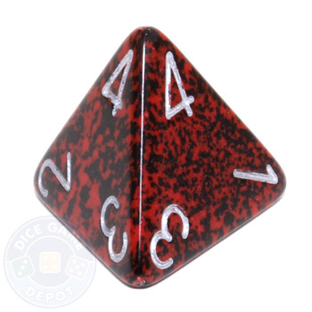 d4 - Speckled Silver Volcano dice