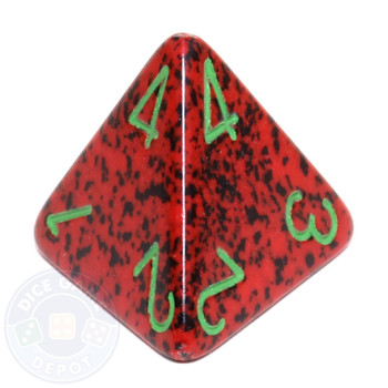 d4 - Speckled Strawberry dice